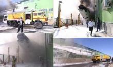 طهران: حريق يلتهم طائرة ومُحاولة إنقاذ جميع ركّابها