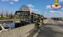 إيطاليا: إنقاذ 51 طالبا هدد سائق حافلة بحرقهم أحياء