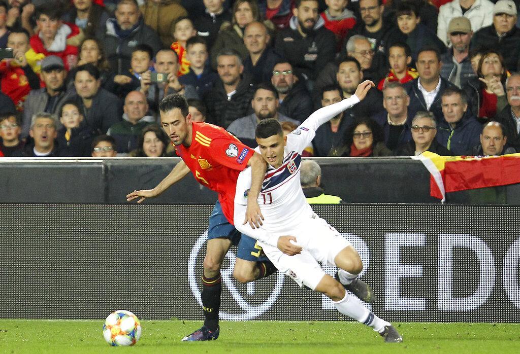 تصفيات يورو 2020: إسبانيا تتخطى النرويج بهدفين لهدف