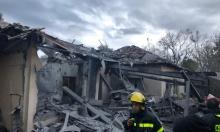 سقوط قذيفة صاروخية على منزل في الشارون وعدة إصابات