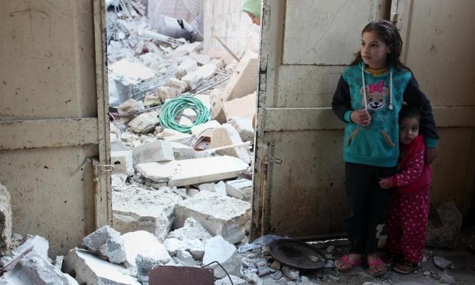 ركام المنازل في غزة بعدقصف جيش الاحتلال