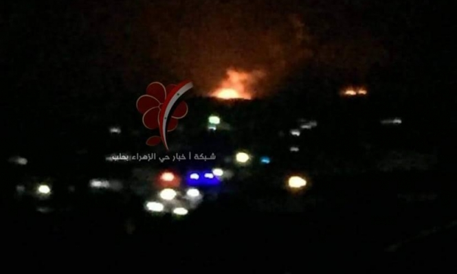 """""""عدوان جوي إسرائيلي على ريف حلب"""""""