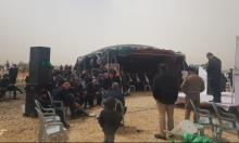 النقب: اجتماع شعبي على أنقاض البيوت المهدومة في رهط