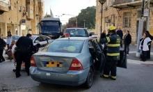 حيفا: تخليص مصابة من سيارة إثر حادث طرق
