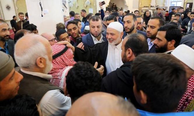 هنية: رد إيجابي من إسرائيل حول التهدئة ورفع الحصار