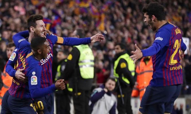 برشلونة يتخطى أتلتيكو ويقترب من حسم لقب الليغا