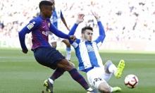 نجم برشلونة مهدد بالإيقاف في دوري أبطال أوروبا