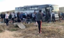 إصابة 6 جنود في انقلاب حافلة في النقب