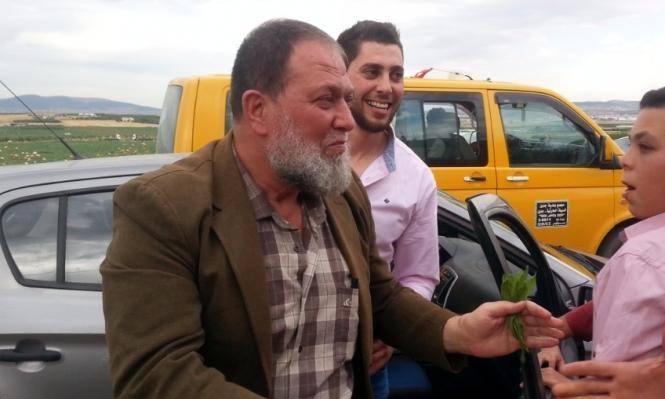 والد الشهيد صالح البرغوثي يعانق الحرية
