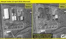 توثيق: هذا ما خلفه القصف الإسرائيلي في مدينة مصياف السورية