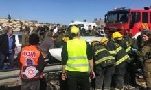 الخليل: إصابة 13 شخصا في حادث طرق