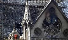 أضرار حريق  كاتدرائية نوتردام تظهر على هيكلها الخارجي