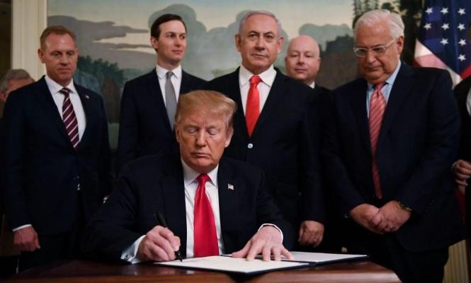الولايات المتحدة تعتمد خريطة لإسرائيل تضم الجولان المحتل وغرينبلات ينشرها