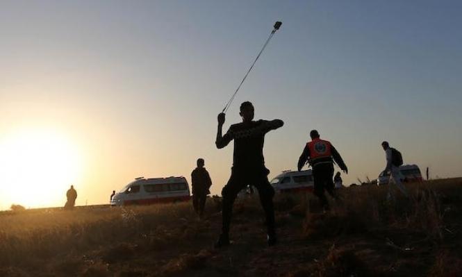 غزة: مسيرة العودة توجه التحية للأسرى في سجون الاحتلال