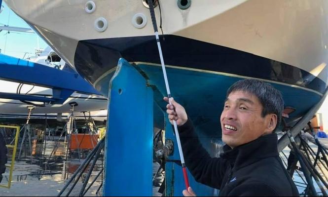 أول بحار ضرير يعبر المحيط الهادي ياباني