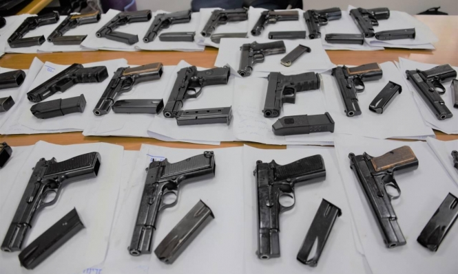 اعتقال 4 أشخاص من باقة الغربية بشبهة تهريب أسلحة
