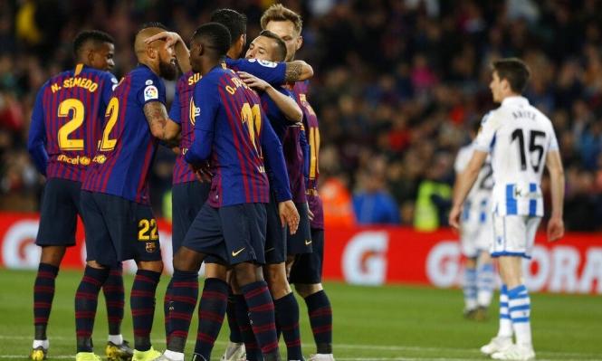 برشلونة يفوز على سوسييداد بهدفين مقابل هدف