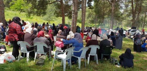 فعالية نسائية في قرية اللجون المهجرة إحياء لذكرى النكبة