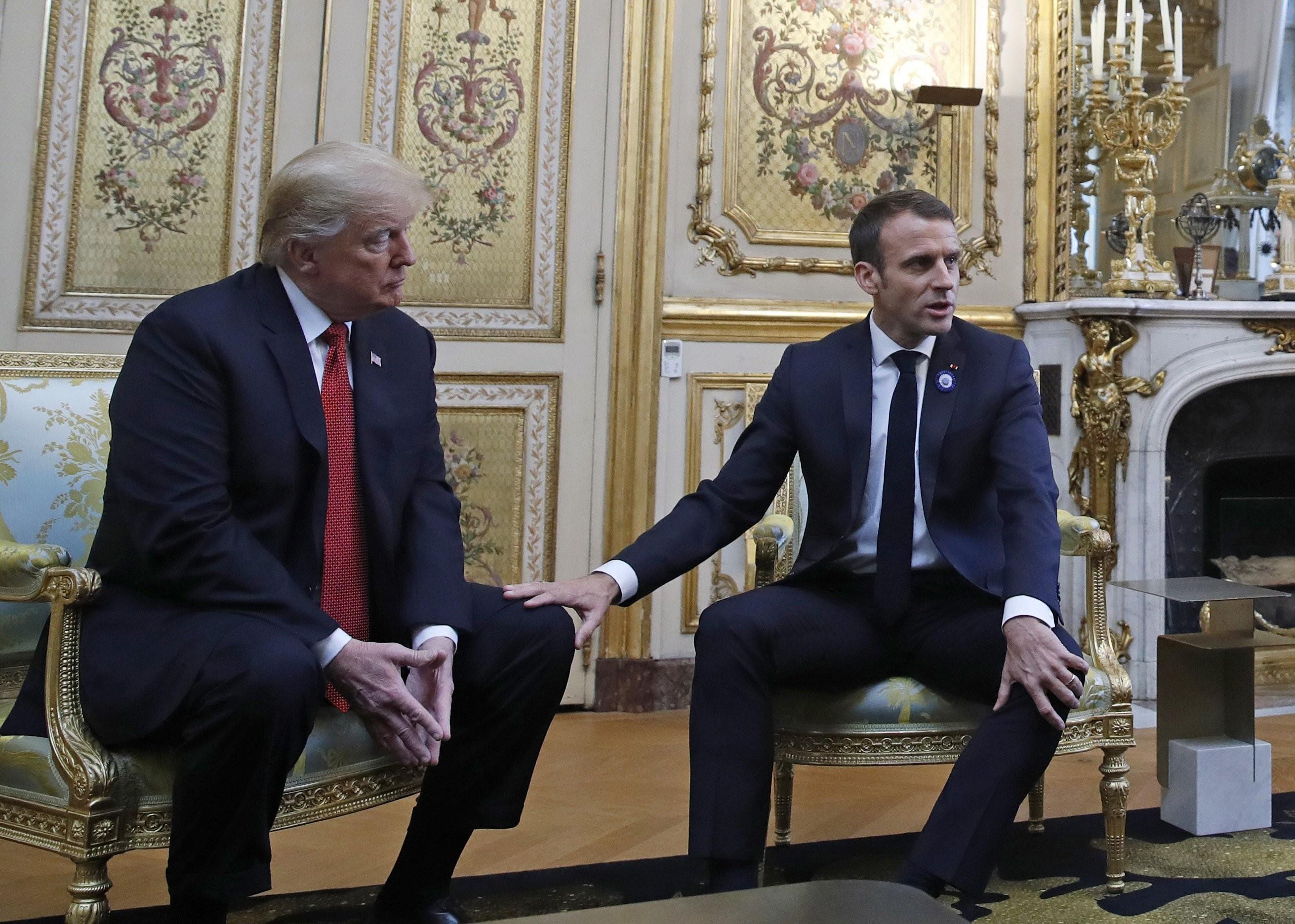 سياسات ترامب الهجومية لا تترك لماكرون الكثير (أ ب)