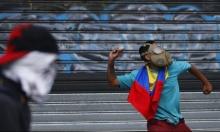 الحجار ة في المظاهرات الفنزويلية