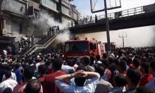 عشرات الإصابات في حريق بسوق شعبي في القاهرة