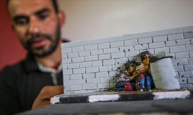 غزة: تحويل رصاص الاحتلال إلى قطع فنية