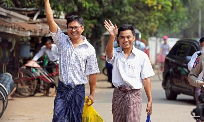 """بورما: إطلاق سراح صحافييْن بوكالة """"رويترز"""" حُكِما لسنوات"""