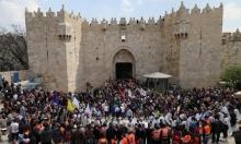 الاحتلال يعتدي على مصلين في باب الأسباط