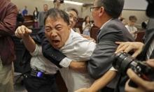 مشاجرة تسفر عن إصابات بين نواب الجمعية التشريعية في هونغ كونغ (صور)