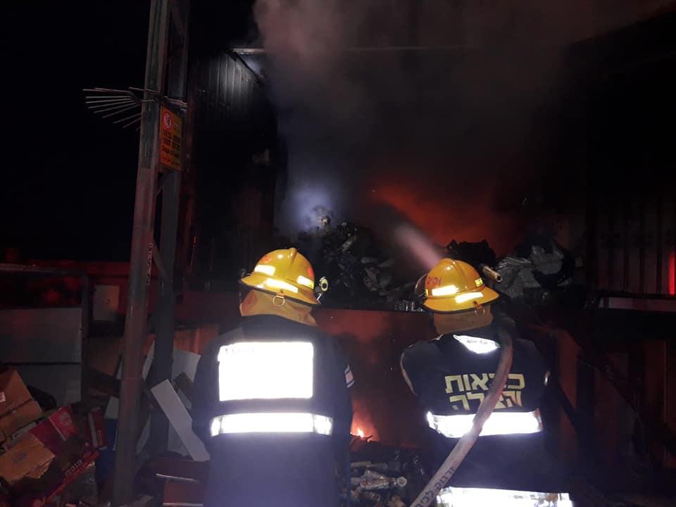 اندلاع حريق داخل مبنى بطمرة