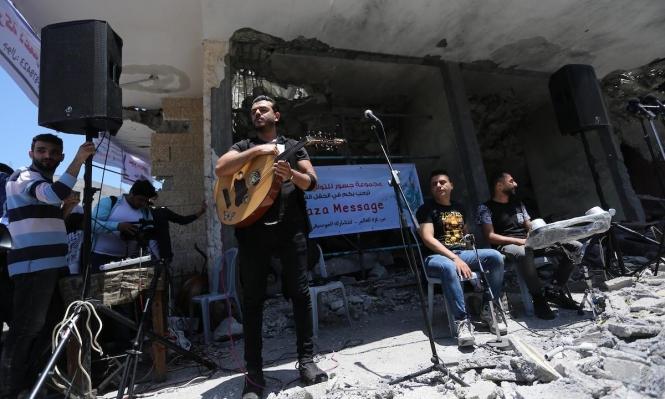 الموسيقى على أنقاض الدمار الذي سببه الاحتلال