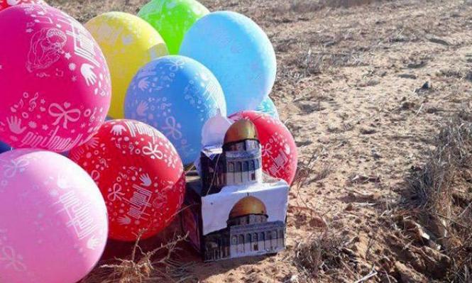 بالون يحمل عبوة ناسفة يهبط في قاعدة عسكرية إسرائيلية