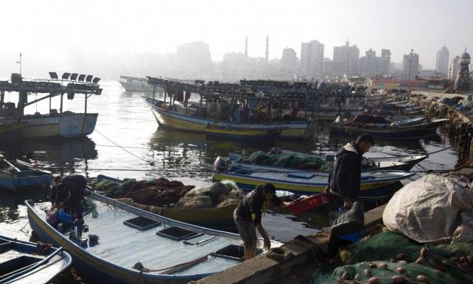 صيادون بغزة يحتجون على تقليص تصدير الأسماك للضفة