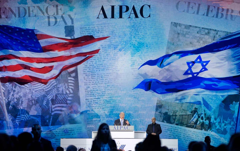 شرخ مع يهود الولايات المتحدة الأميركيّة، نتنياهو أمام الإيباك (أ ب)