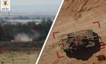 """""""سرايا القدس"""" تُوثق """"أول استهداف لآلية إسرائيلية بطائرة مسيّرة"""""""