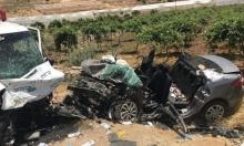 مصرع سائق من النقب وإصابة 4 في حادث طرق جنوب الخليل (صور)