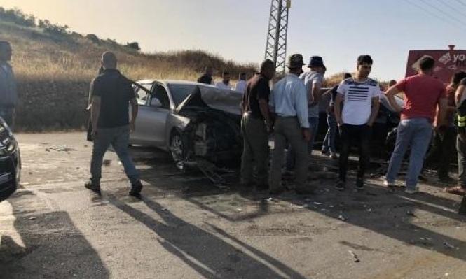 إصابة طالبين جامعييْن من شفاعمرو بحادث في طريق الجامعة الأميركية