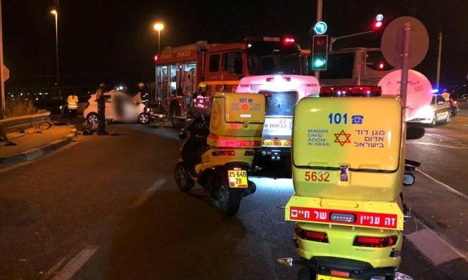 5 إصابات في حوادث طرق بالنقب والجليل