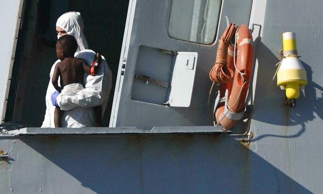 إنقاذ مهاجرين قبالة ليبيا