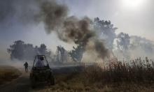 """حريق قرب مستوطنة """"شيلاه"""" وتقديرات بأنه متعمد"""