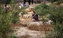زيارة الموتى في غزة صباح العيد