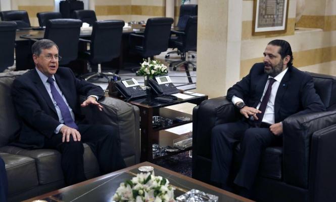 الوسيط الأميركي يبحث في بيروت ترسيم الحدود البحرية مع إسرائيل