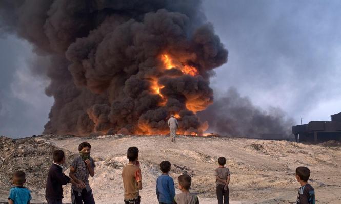 جرحى بصاروخ استهدف مؤسسات نفطية أجنبية بالبصرة