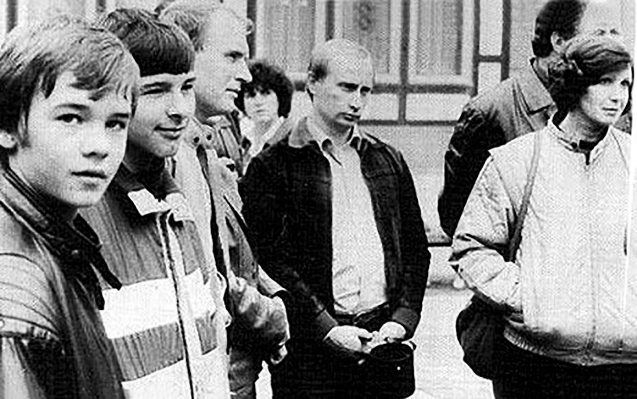بوتين في شبابه