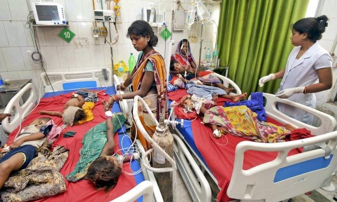 وفاة 152 طفلا بالهند بسبب مرض التهاب الدماغ