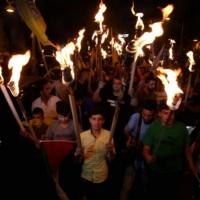 إضراب بغزة ومسيرات شعبية بالضفة رفضا لورشة المنامة