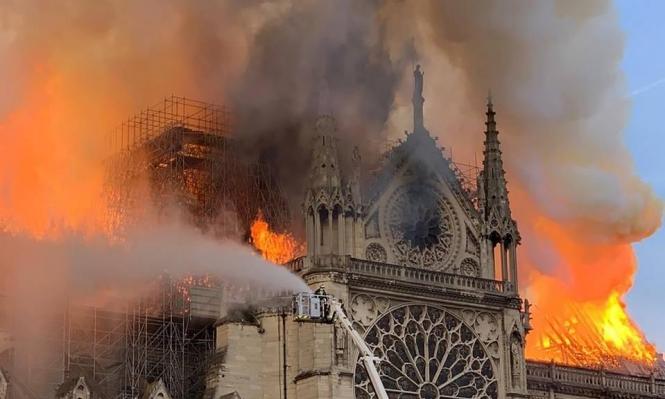 حريق كاتدرائية نوتردام... نجم عن سيجارة أو عطل كهربائي