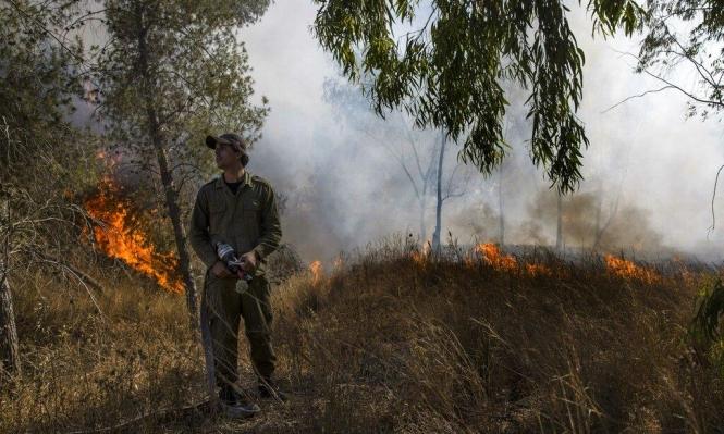البالونات الحارقة تتسبب بـ19 حريقا في مستوطنات غلاف غزة
