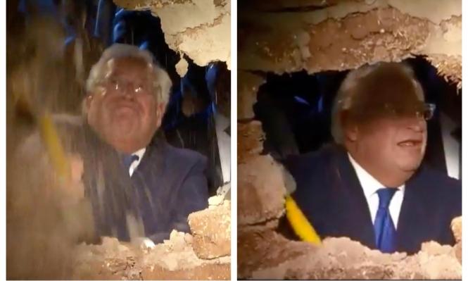 """فريدمان يشارك في حفر نفق """"للحجاج اليهود"""" في القدس المحتلة"""