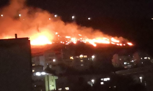 كفركنا: حريق هائل في جبل سيخ